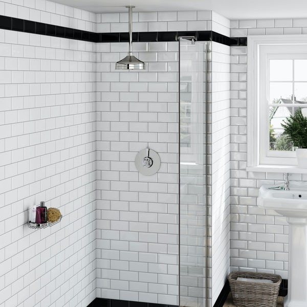 Dulwich Concentric Thermostatic Valve & Ceiling Shower Set