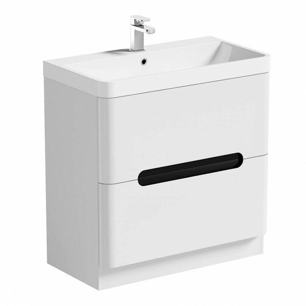 Mode Ellis essen vanity drawer unit and basin 800mm