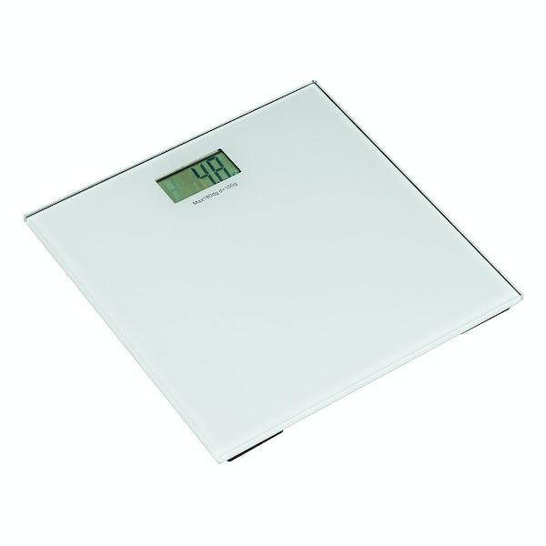 Digital clear glass bathroom scales
