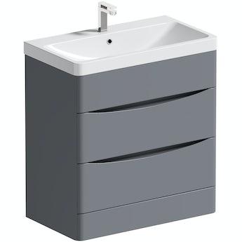 Mode Adler grey 800mm floorstanding vanity unit and basin