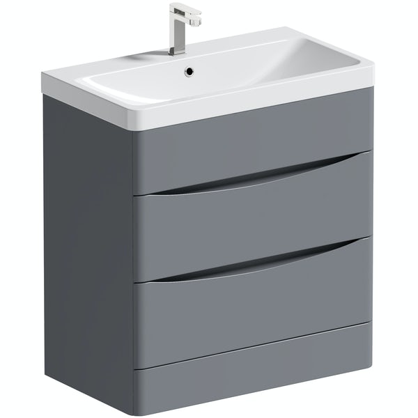 Mode Adler grey 800mm floorstanding vanity unit and basin
