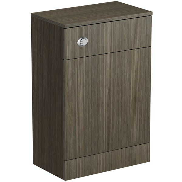 Wye walnut back to wall toilet unit