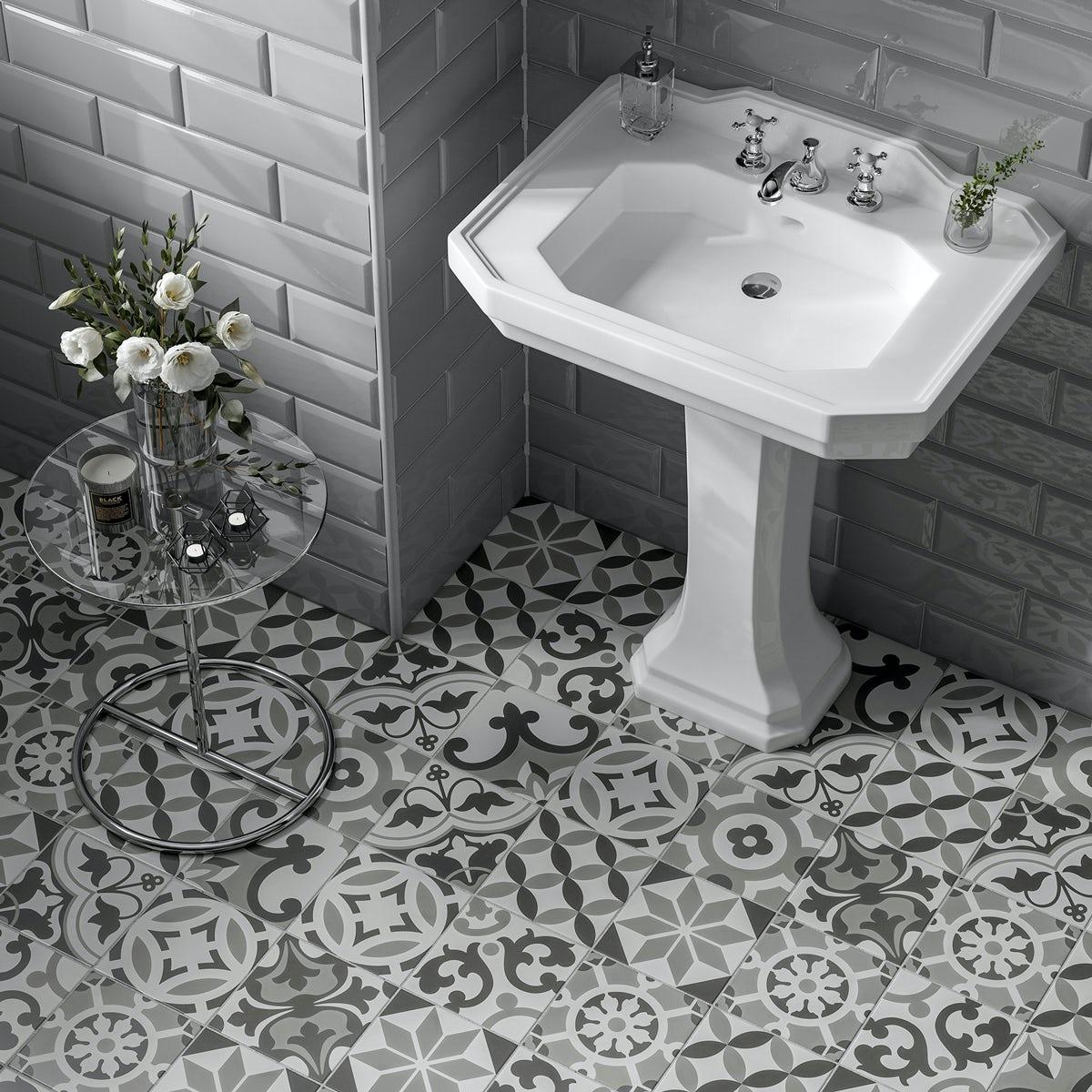 Patchwork Traditional Dcor Mix Matt Wall And Floor Tile 185mm X 185mm Victoriaplum Com