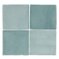 Marseille blue mix gloss wall tile 100mm x 100mm