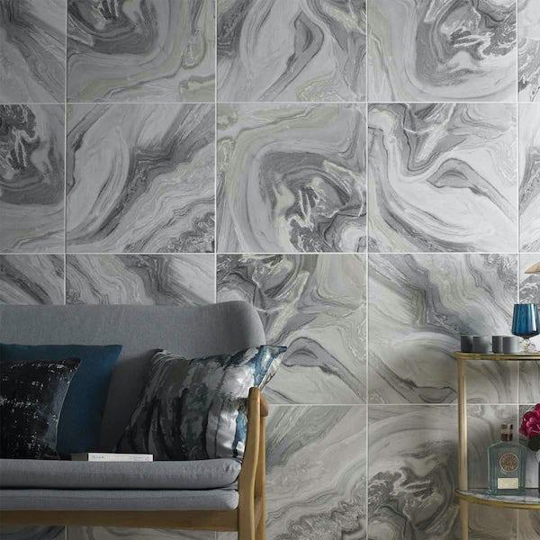 British Ceramic Tile HD Distinction Feature matt floor tile 498mm x 498mm