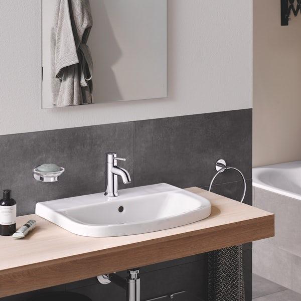 Grohe Bau 1 tap hole insert basin 550mm