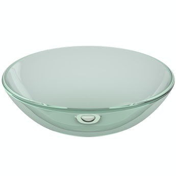 Mode Mackintosh clear glass countertop basin 420mm