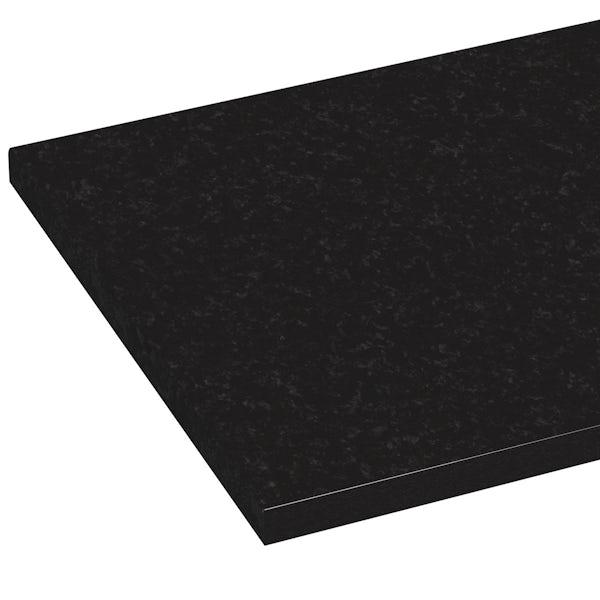 Orchard Wharfe polar black laminate worktop 1.5m