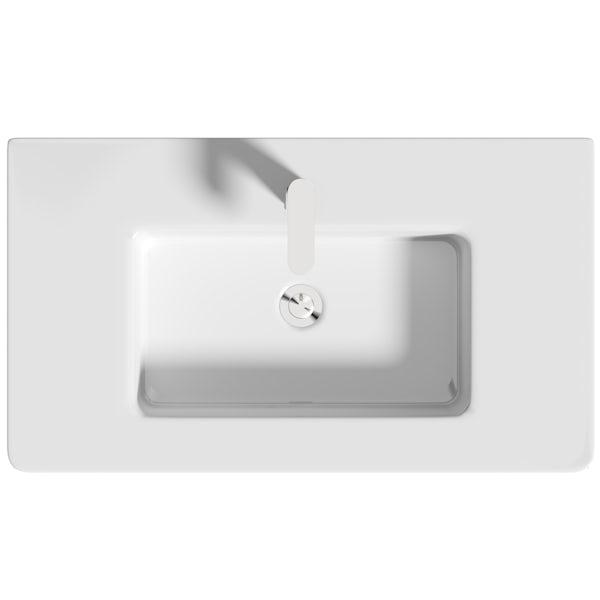 Mode Cortona grey 800mm wall hung vanity unit and basin