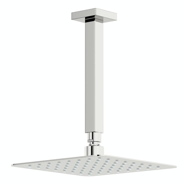 Mode Ellis square concealed thermostatic mixer shower with ceiling arm