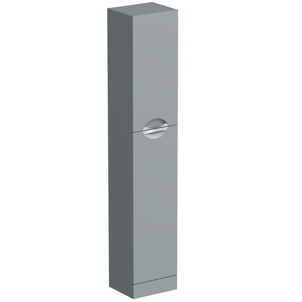 Orchard Elsdon stone grey slimline tall storage unit 300mm