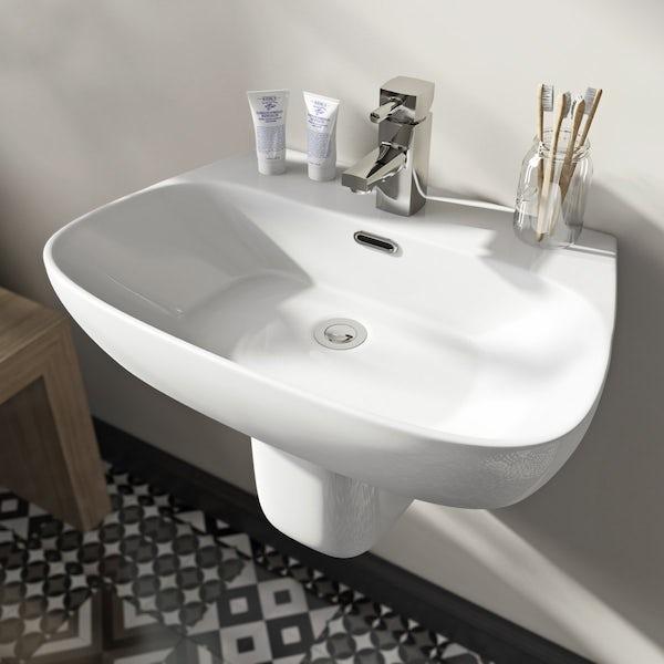 Mode Foster 1 tap hole semi pedestal basin 600mm