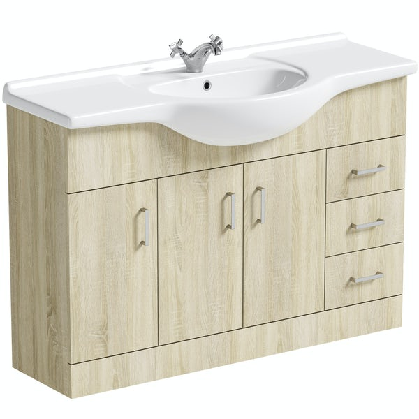 Orchard Eden oak vanity unit and basin 1200mm