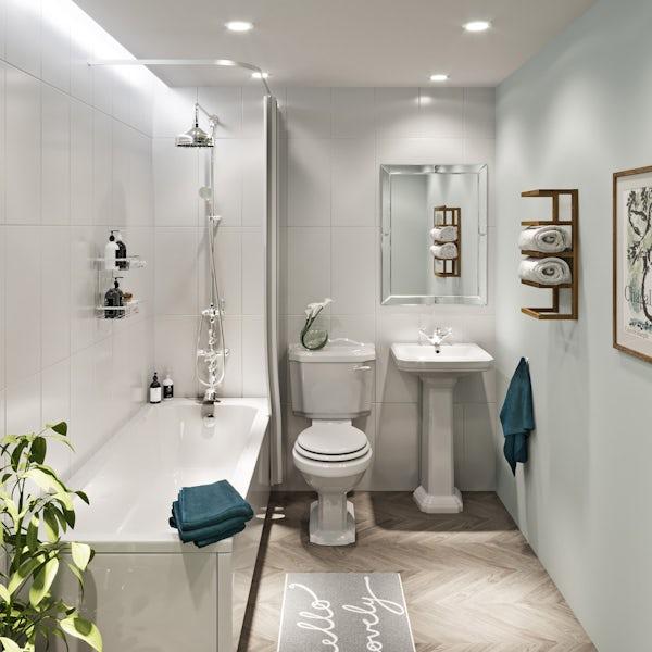 The Bath Co. Dulwich 1 tap hole full pedestal basin 571mm