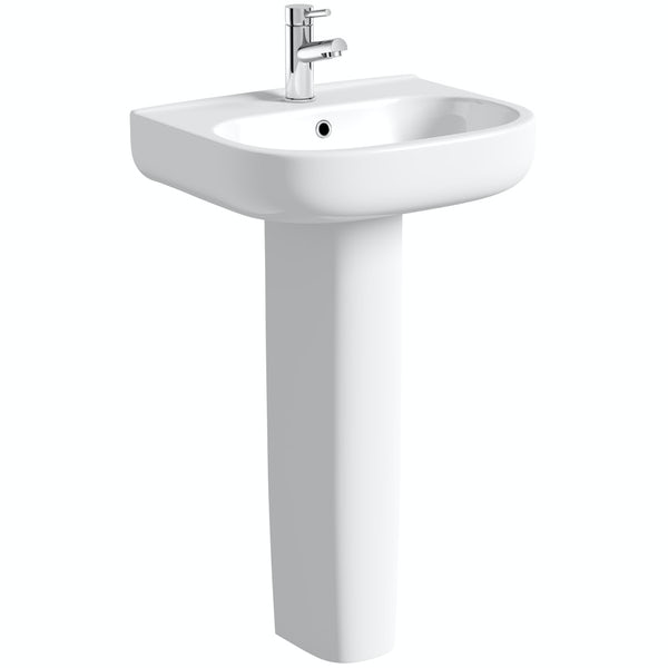 Orchard Lune full pedestal basin 550mm