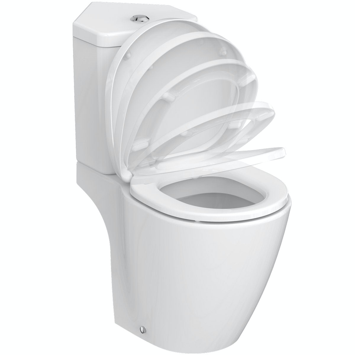 Ideal Standard Concept Space compact corner close coupled toilet with soft close seat