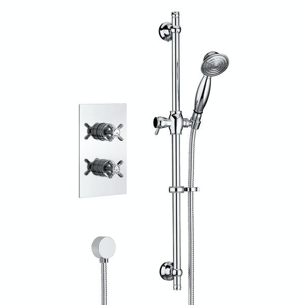 Bristan 1901 concealed thermostatic mixer shower with slider rail