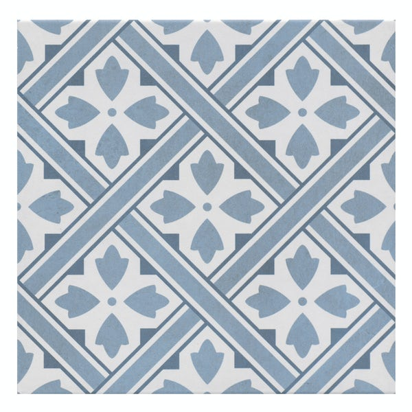 Mr Jones blue tile 330mm x 330mm