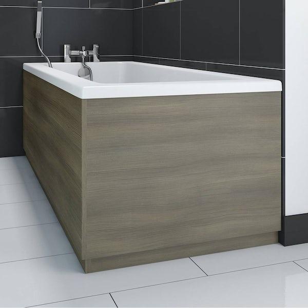 Drift Walnut Wooden Bath End Panel 750
