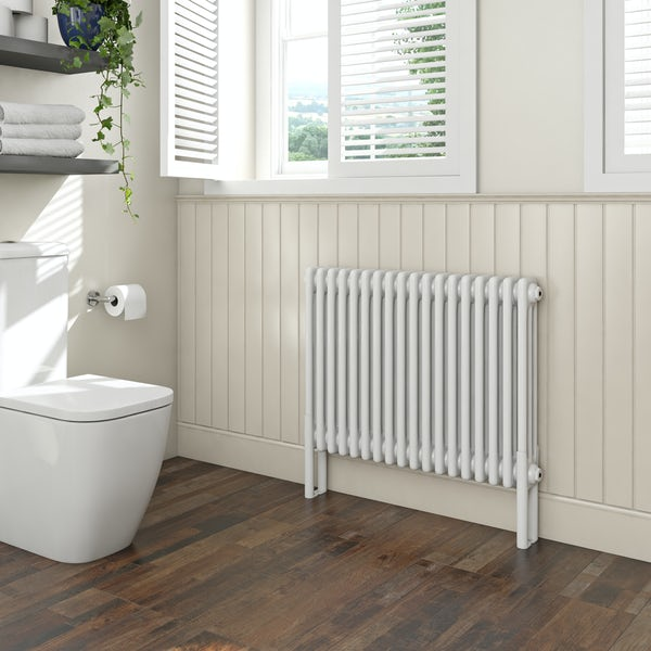 Clarity white 3 column radiator 600 x 834