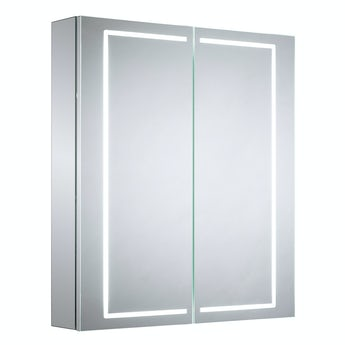 Mode Olins diffused LED illuminated mirror cabinet 700 x 500mm with demister & charging socket