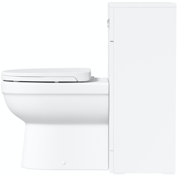 Orchard Elsdon white slimline back to wall unit and Eden toilet with soft close seat