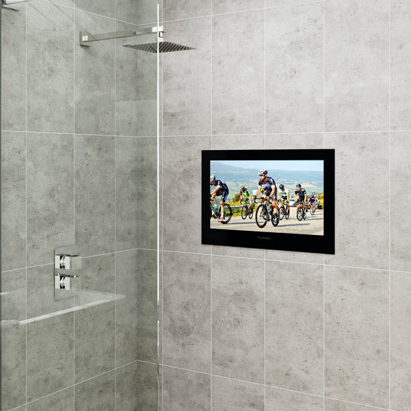 ProofVision 24 inch black bathroom TV