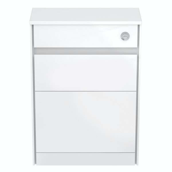 Ideal Standard Concept Air white gloss and matt white back to wall unit, concealed cistern and push button