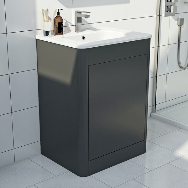 Mode Carter slate vanity unit and basin 600mm