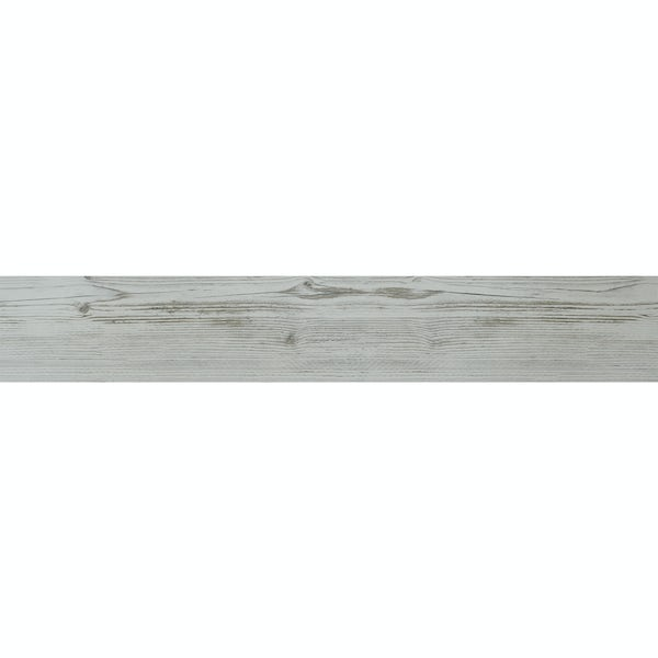 Ashdown white wood effect matt wall and floor tile 140mm x 840mm