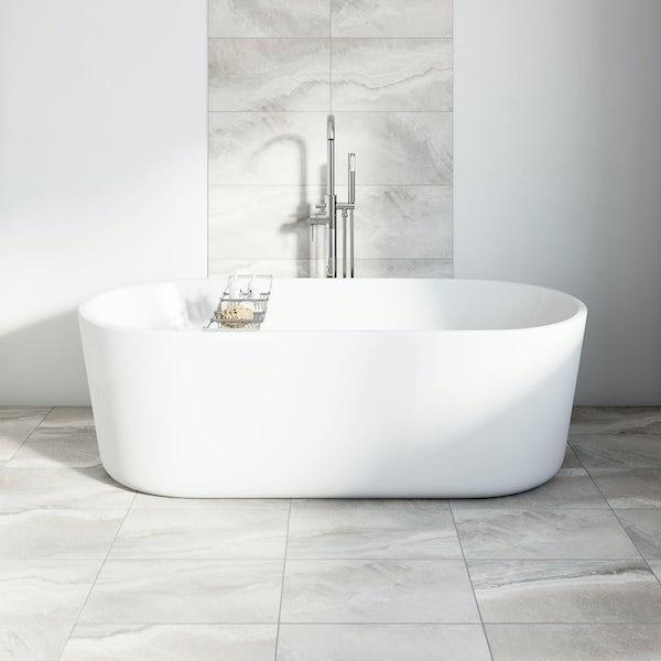 British Ceramic Tile Stone grey matt tile 298mm x 498mm