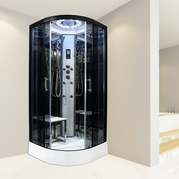 Insignia Platinum quadrant shower cabin with tinted glass