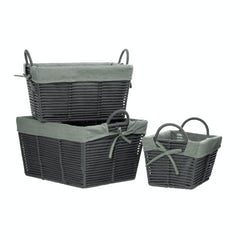 Main image for Set of 3 tapered grey storage baskets with removable liner