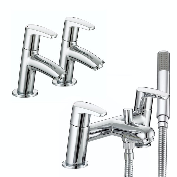 Bristan Orta basin tap and bath shower mixer tap pack