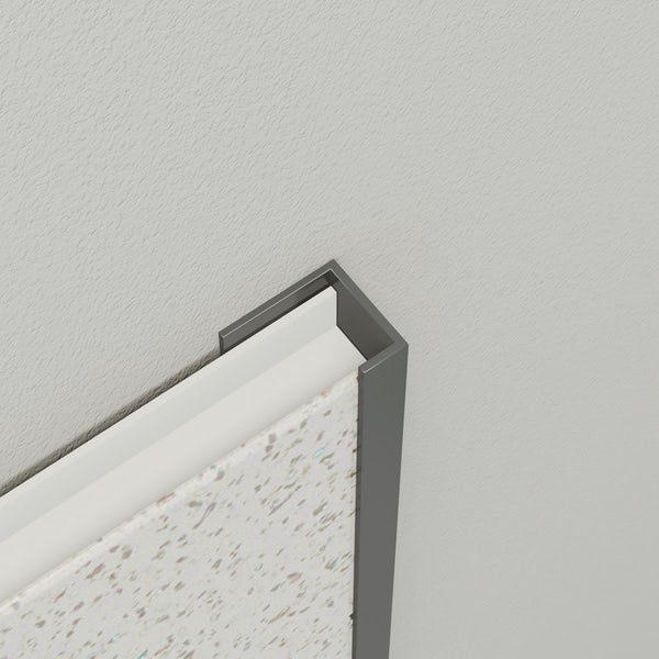 Multipanel Economy type U grey end cap profile
