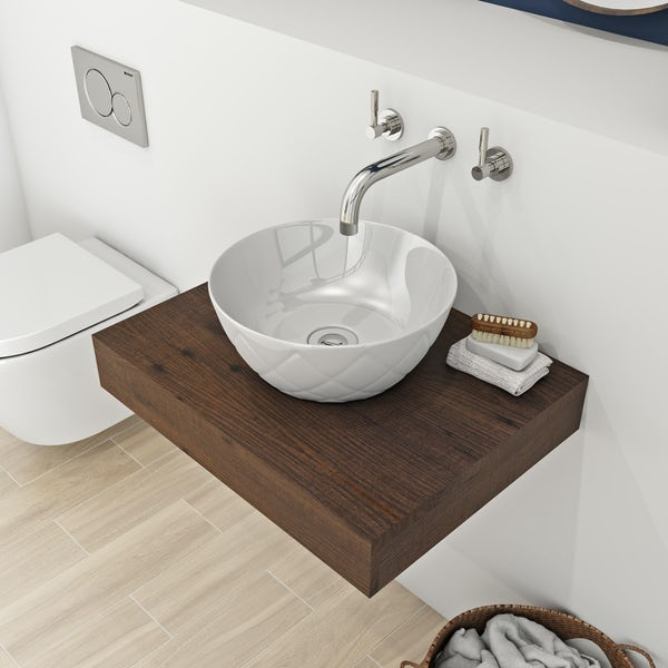 Mode Harrison textured countertop basin 358mm