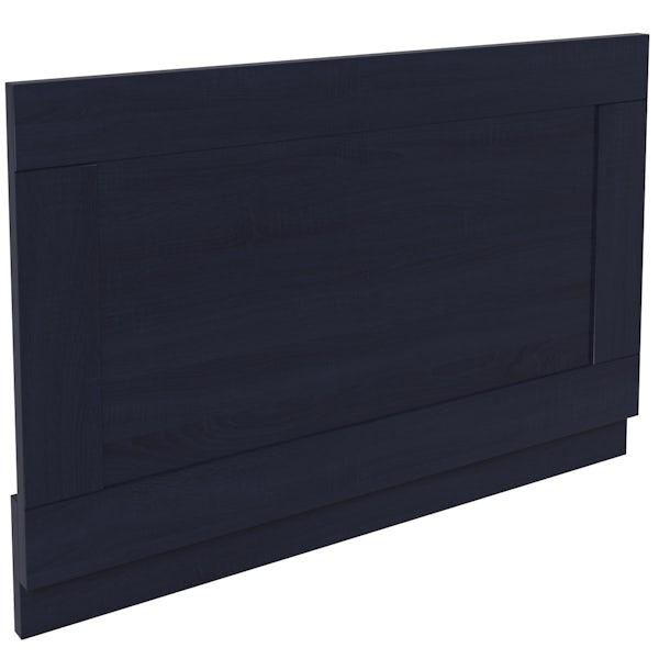 The Bath Co. Beaumont sapphire blue bath end panel 700mm