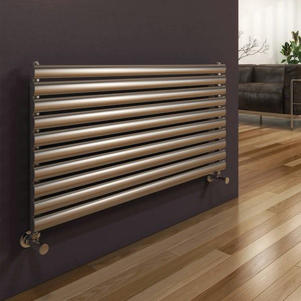 Reina Artena single brushed stainless steel designer radiator