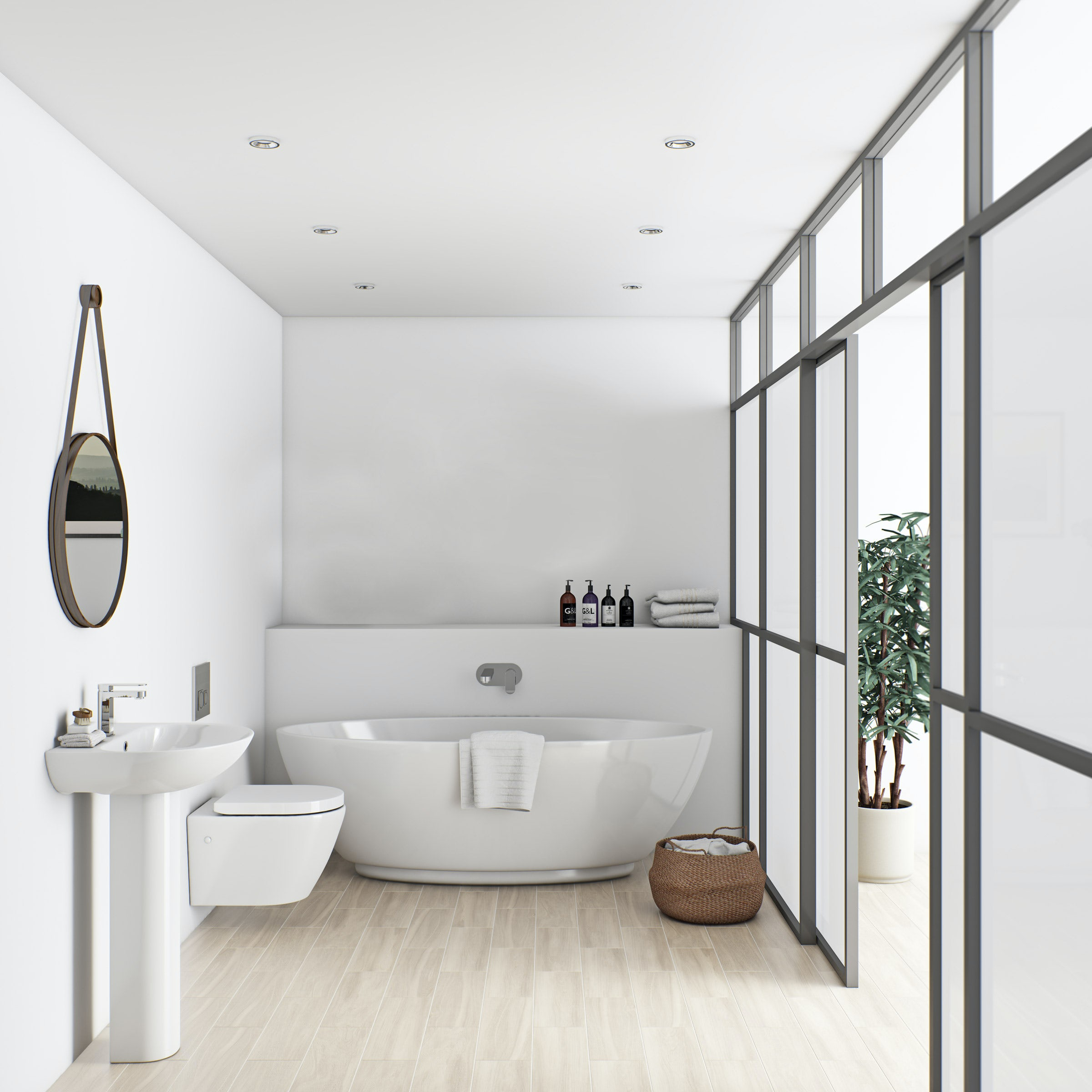 Mode Harrison Bathroom Suite With Freestanding Bath 1790 X 810