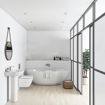 Mode Harrison bathroom suite with freestanding bath 1790 x 810