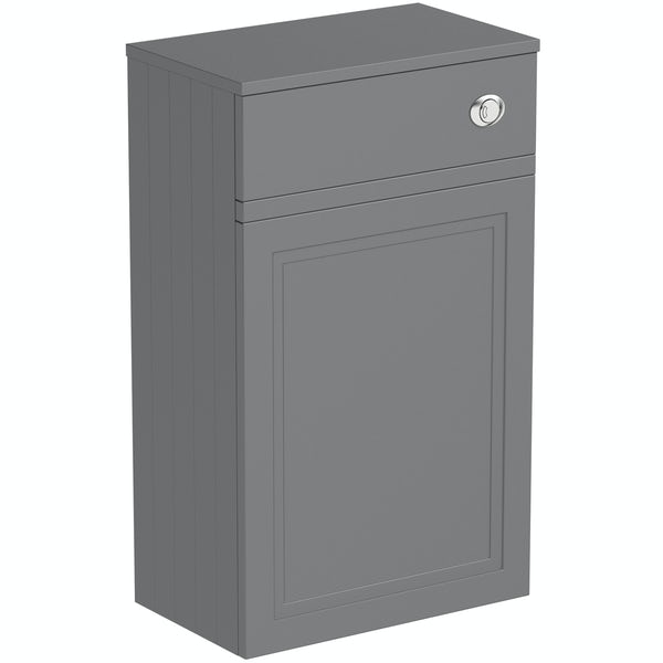 The Bath Co. Chartham slate matt grey back to wall toilet unit 500mm