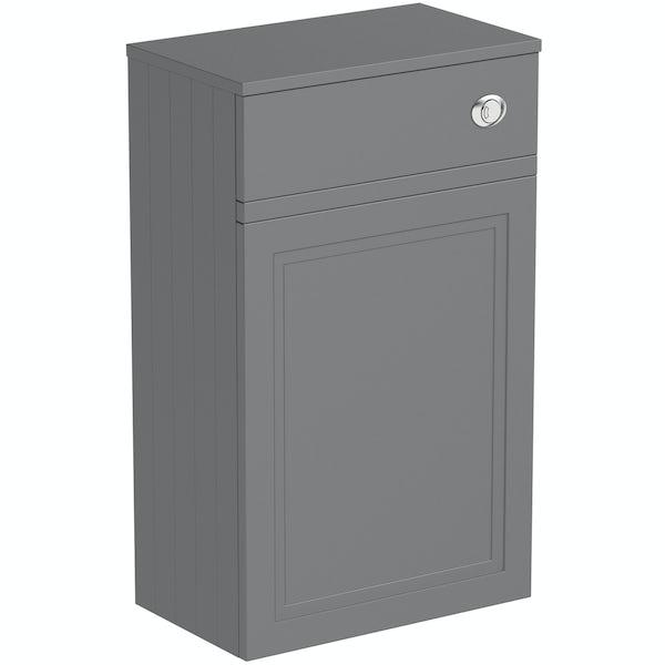 The Bath Co. Chartham slate grey back to wall toilet unit