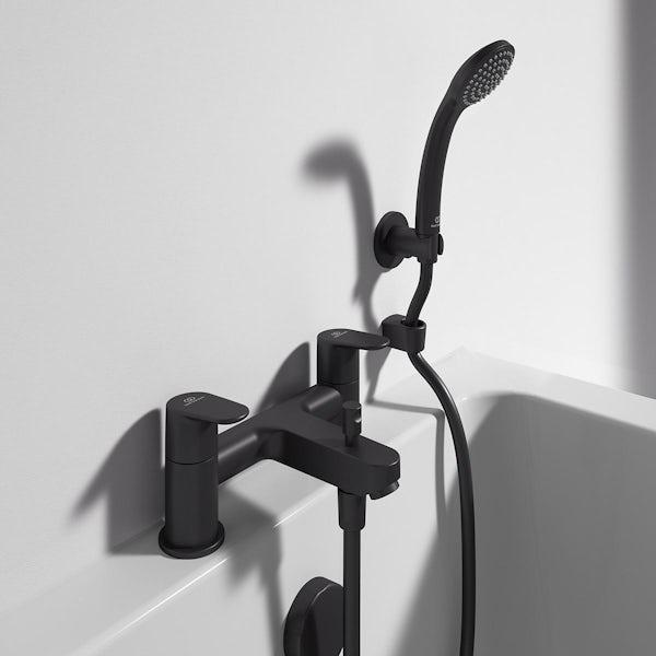 Ideal Standard Cerafine O silk black black bath shower mixer tap