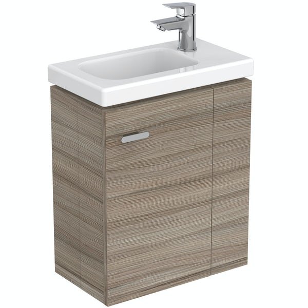 Ideal Standard Concept Space elm right handed wall hung vanity unit and basin 450mm