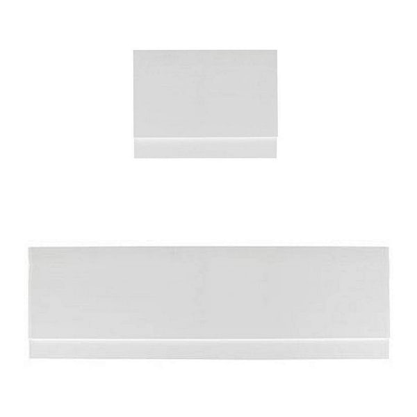Orchard White wooden straight bath panel pack 1800 x 800