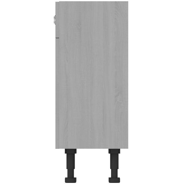 The Bath Co. Newbury dusk grey back to wall toilet unit 600mm