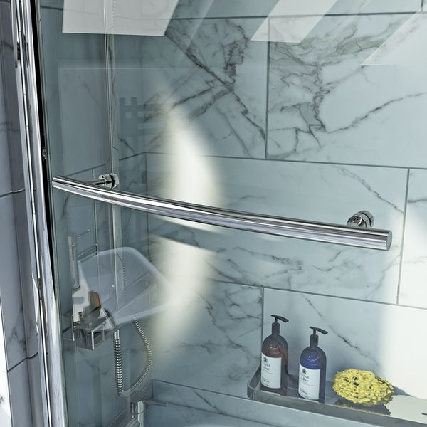 Orchard spacesaver 6mm shower bath screen