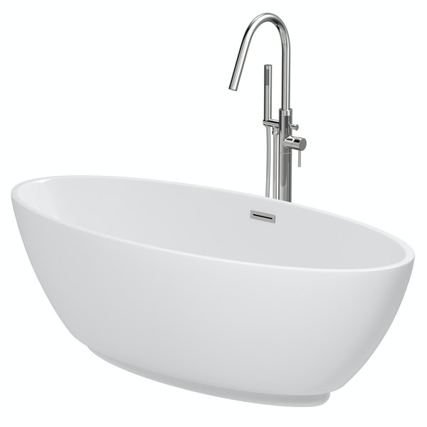 Mode Harrison freestanding bath & tap pack with Heath bath filler