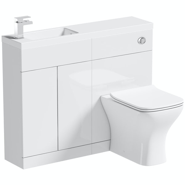 Mode MySpace Slim white combination with contemporary square toilet