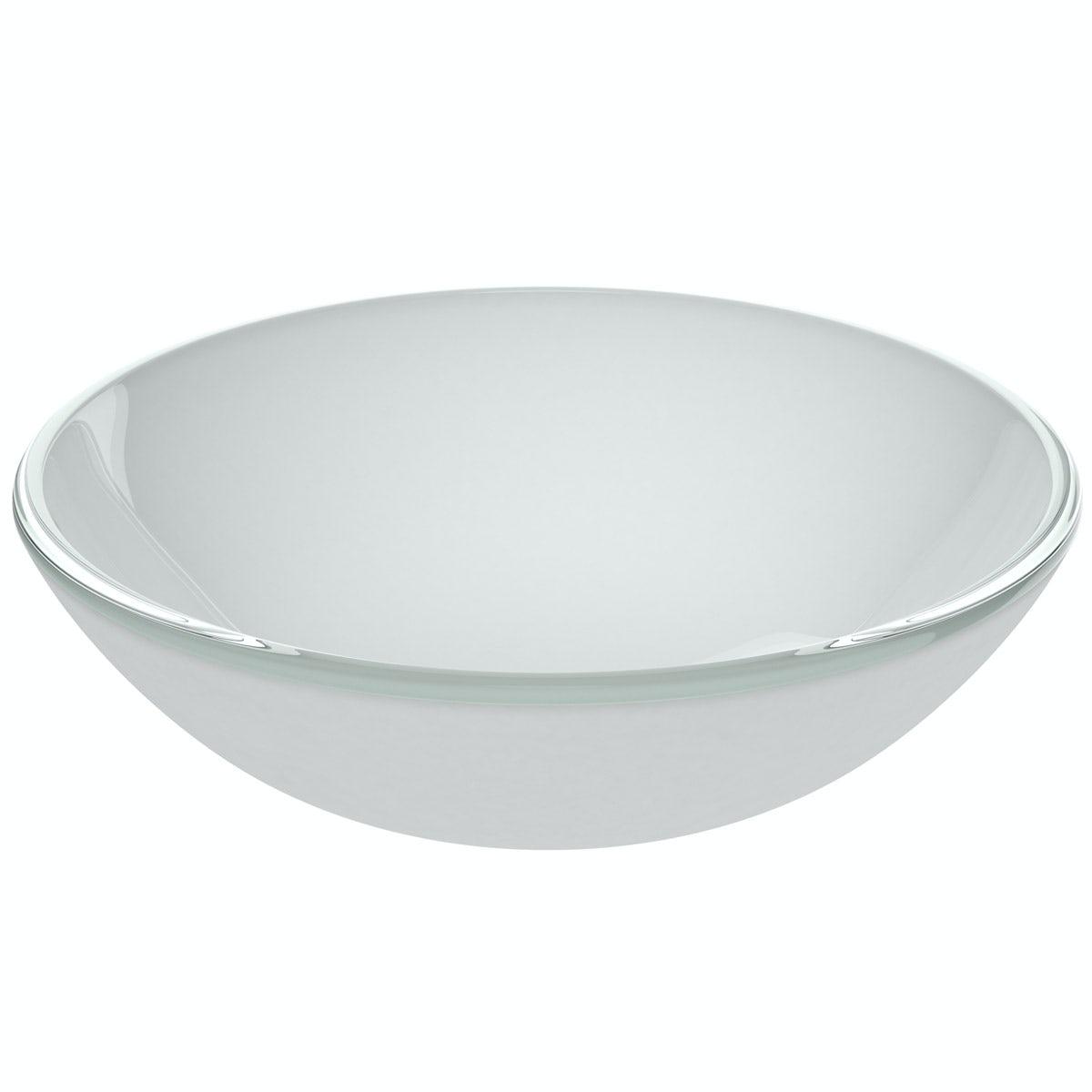 Mode Mackintosh painted white glass countertop basin 420mm
